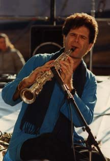 Steve Gorn on the soprano saxophone.